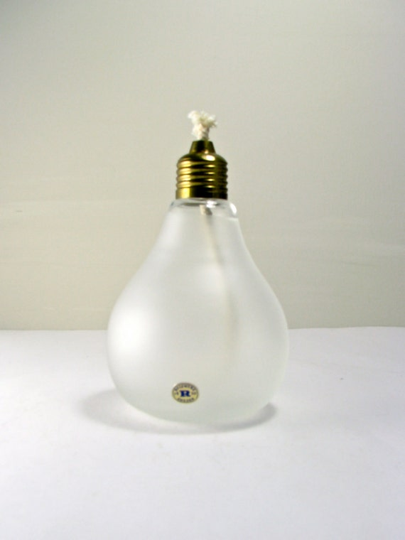 Scandinavian Art Glass Oil Lamp Reijmyre