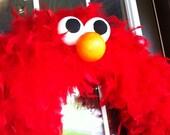 Elmo/Cookie Monster/Sesame Street Inspired Wreath