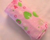 Forrest on Pink Crayon Roll.  Holds 12 Crayons.
