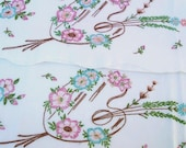Vintage Pillowcases, Embroidered Pillowcases, Painters Palette and Floral Motif