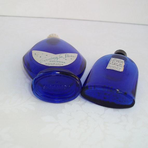 Cobalt Glass Bourjois Evening In Paris Vintage Perfume