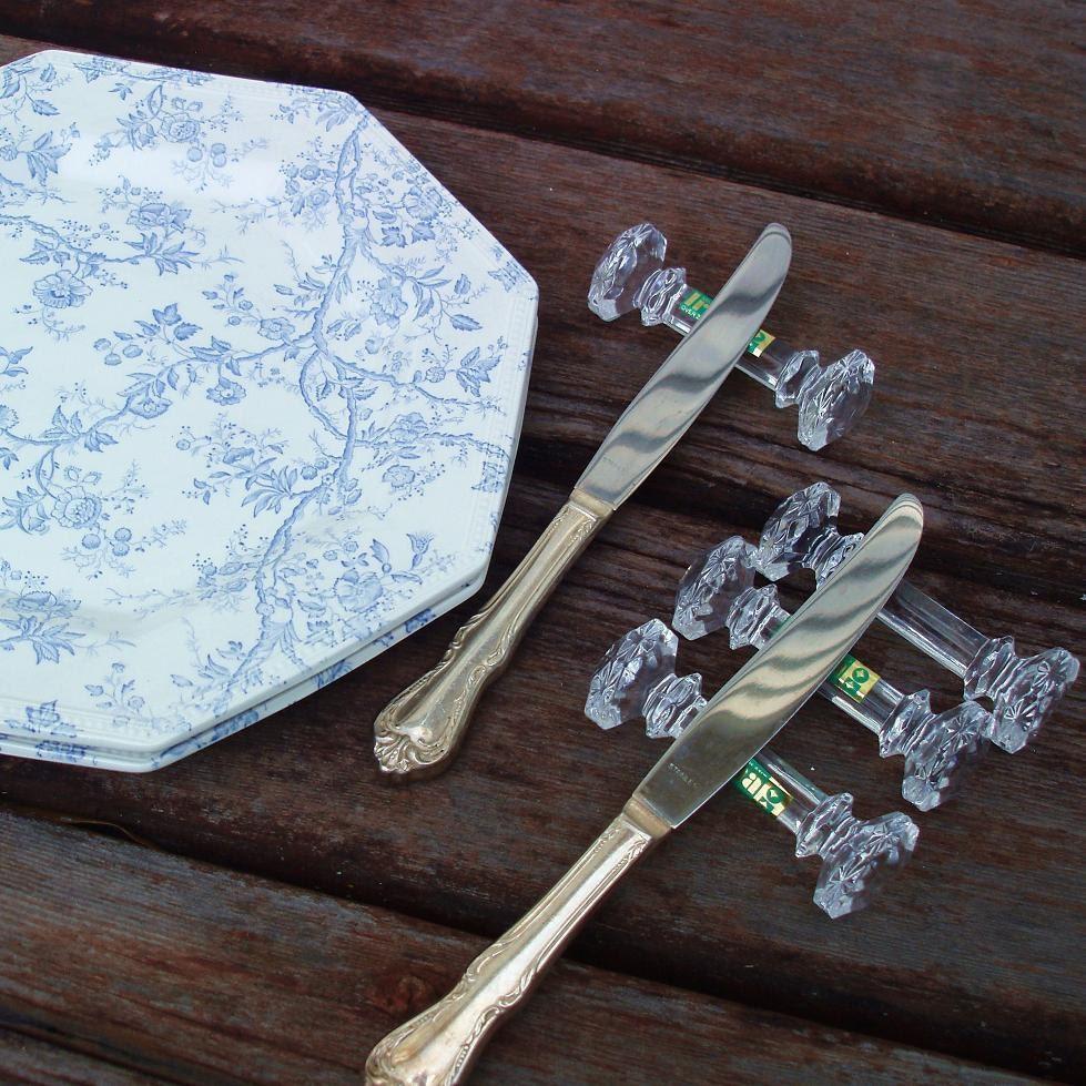 Knife Rests Crystal Knife Rest Table Setting