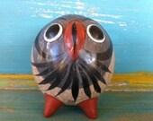Vintage Mexican Owl Figurine