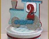 Vintage Train Cake Topper, Keepsake Box