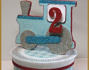 Vintage Train Cake Topper, Keepsake Box
