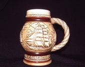 Schooner Stein-Avon-collectible-miniature-sailing-waterman-ships-highfire crockery-Brazil
