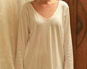 Cotton Pajamas - Long Sleeve Long Pajamas in Supima Rib Knit