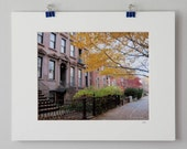 50% OFF - Brownstone Love, 8x10 matted photograph in Brooklyn, New York