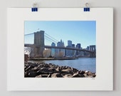 50% OFF - New York, 8x10, skyline, photo, Brooklyn Bridge, Manhattan