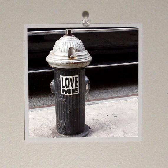 Love, New York, Hydrant, Soho, photo, 5x5