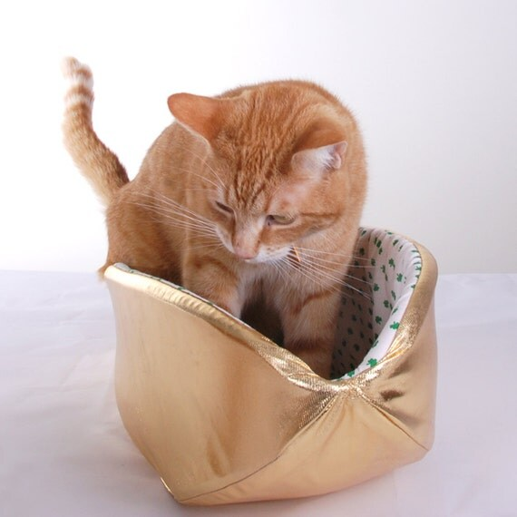 Pot of Gold Cat Bed for Leprechaun Cats