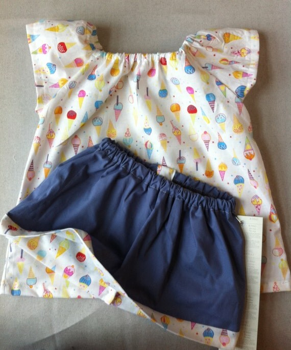 ICE CREAM top and skirt set