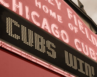 Chicago Cubs  Wrigley Field Marquee Art on Canvas