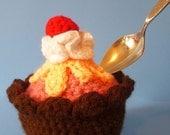 Cherry Ice Cream Cup crocheted