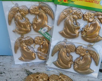 Christmas Decoration Gold Angels, Two Packs