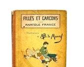 Filles Et Garcons - Antique Book - Antique French Children's Book by Anatole France