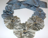 A Princess Wears Blue Too Stunning Cloth Bib Necklace