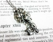 Key necklace wire wrapped LOVE Key Pendant 30 - Wire wrapped rose butterfly key handmade jewelry