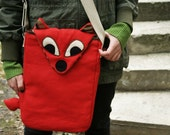 RED FOX messenger bag -organic canvas-Made to order