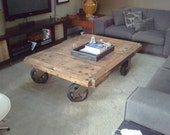 Industrial Coffee Table Carts