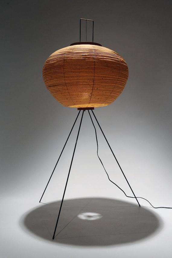 vintage noguchi akari floor lamp
