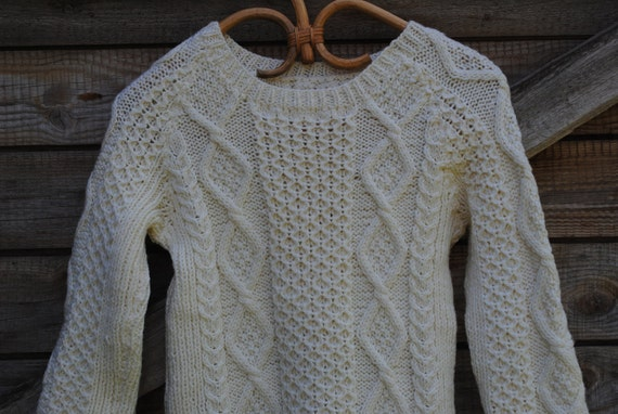 Boys Girls Cable Knit Wool Sweater FREE SHIPPING