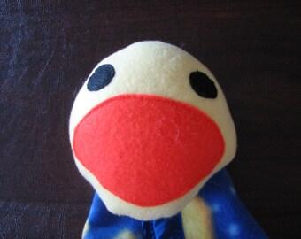 Security Blanket - blue fleece - Midnight Duck - Clearance