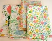 Floral Garden Vintage Linen Napkin Set