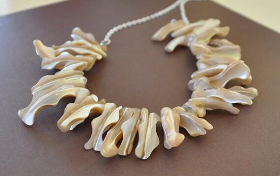 Stick Pearl Chain Necklace
