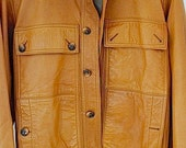 VALENTINES DAY SALE//// 68.00 vintage leather Jacket French Made by Jean - Paul Germain