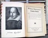 Vintage Book, The Complete Works of William Shakespeare, Hardbound Antique Book, Shakespeare, Romeo and Juliet, Hamlet, Treasury Item