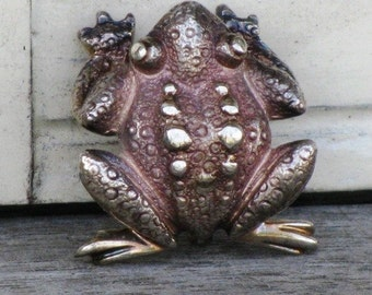 Vintage Tiffany & Co. Rare Sterling Silver 925 Frog Brooch Pin,  Authentic Vintage Tiffany and Co. Brooch, Holiday Gift, Treasury Item
