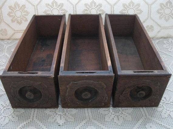 Vintage sewing machine drawers set of 3