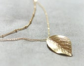 Gold Leaf layered Necklace