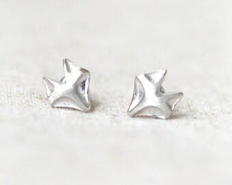 Fox earrings in silver