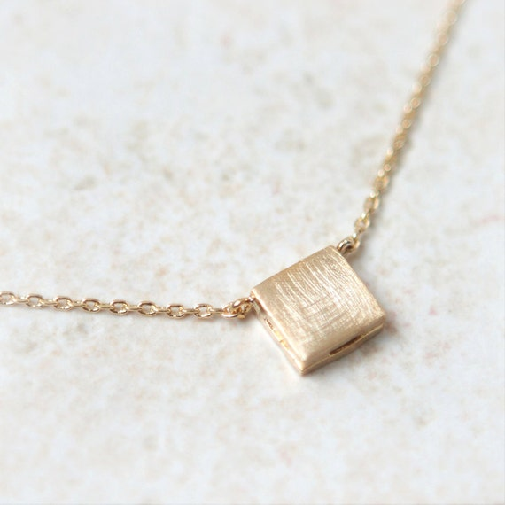 Textured Square Necklace