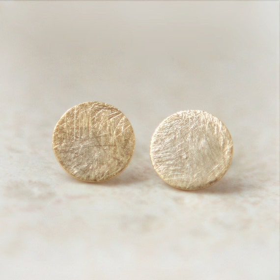 Textured circle earrings / choose your color