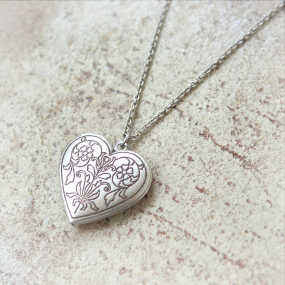 Secret Heart Locket Necklace