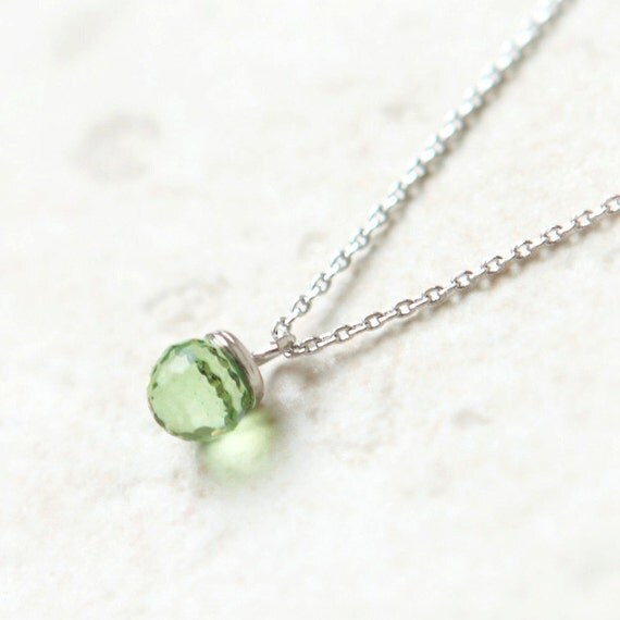 Green Disco Ball Necklace