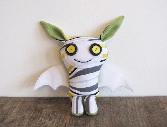 Holiday Sale - Stuffed Plush Fabric Monster Toy, Casey The Happy Monster