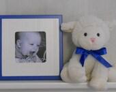 Baby Nursery Blue Square Picture 4x4 Frame - 8x8 Blue Nursery Frame