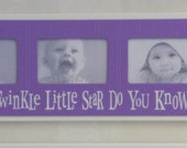 Twinkle Twinkle Little Star - Childrens Art Frame Purple Girls Baby Nursery 4x6 Picture Frame