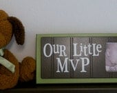 Green and Brown Nursery Decor Baby Boy Nursery Sports Photo Frame OUR LITTLE MVP