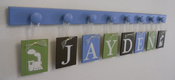 Wooden Letters Nursery Personalized Wall By NelsonsGifts