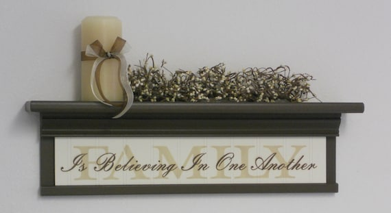 Family Sign Home Decor 24 Black Or Brown Wall Shelf