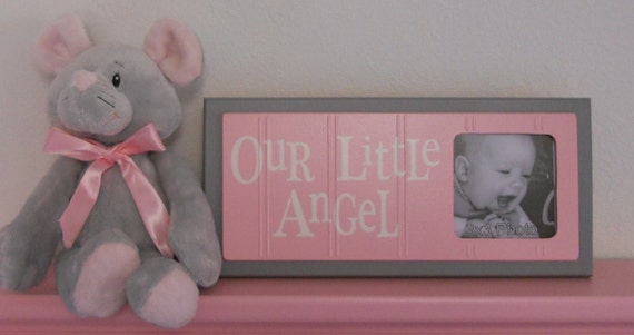 Little Girls Wall Decor Pink Baby Nursery Decor By