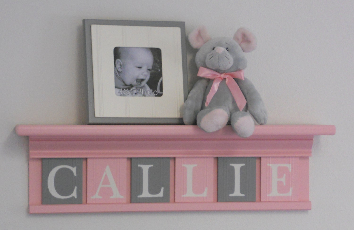 pastel pink and gray baby girl nursery decor callie. Black Bedroom Furniture Sets. Home Design Ideas