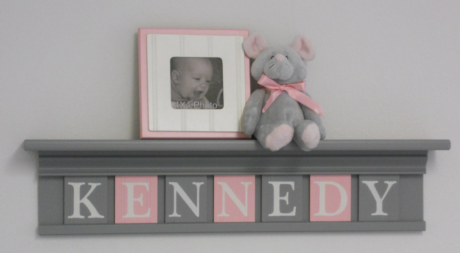 Kids Furniture Painted Pink And Gray Nursery Baby Girl Grey