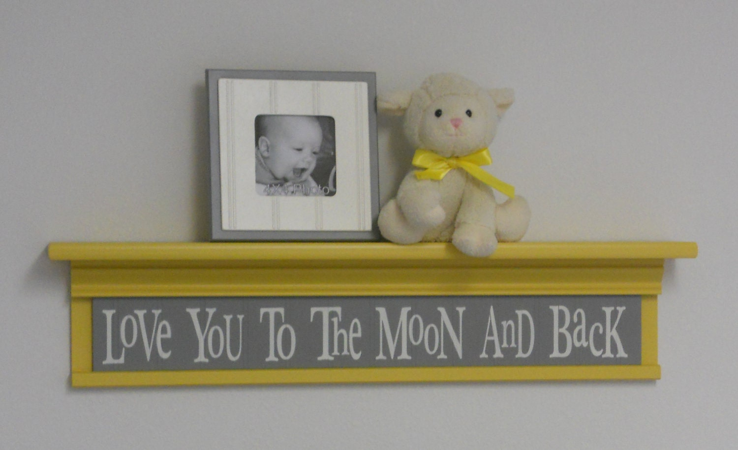 Yellow And Grey Baby Nursery Decor Baby Wall Decor Gray