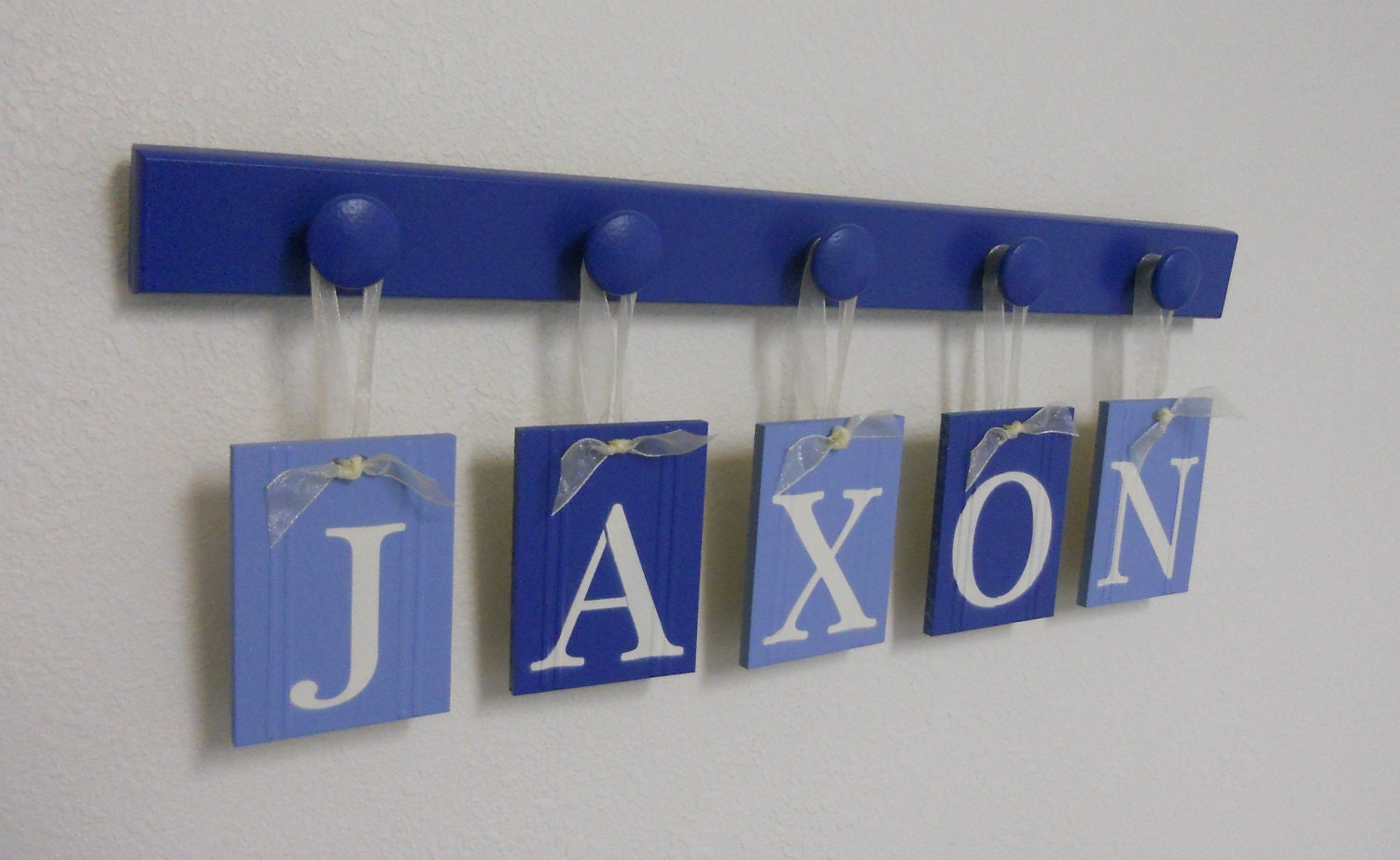 Alphabet letters boy baby name sign personalized by for Letter name signs